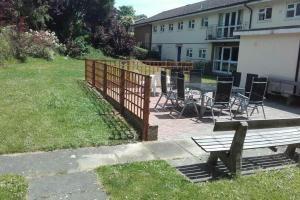 The new patio area at Hazelholt