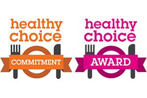 Healthy Choice commitment and award logos