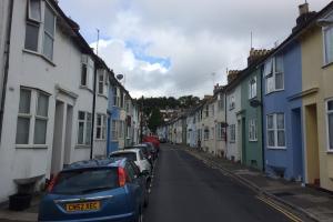 Terraced houses in St Mary Magdelane Street
