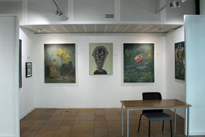Jubilee library foyer gallery is near the entrance of the library