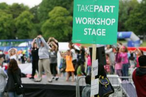 TAKEPART workshop stage
