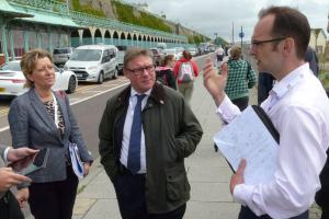 Communities minister mark Francois at Madeira Terraces