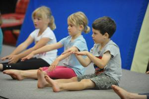 Children at a gymnastics session