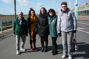 Women's healthwalk on the seafront