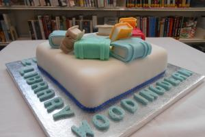The cake to celebrate Woodingdean library