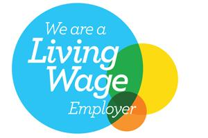 We are a living wage employer logo accreditation logo from the Living Wage Foundation
