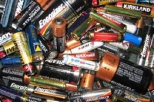 A small image of lots of household batteries