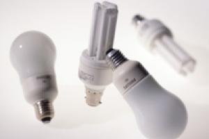 A selection of energy saving light bulbs