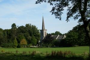 Stanmer Church and green