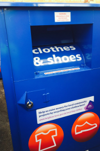 Clothes and shoes recycling point