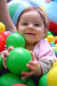 Seaside View baby in ball pool