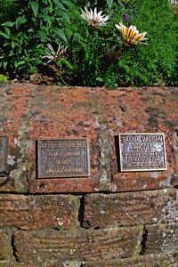 Plaques in Woodvale memorial garden