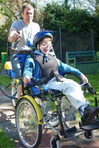 boy in wheelchair short break