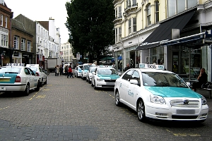 The taxi rank area in East Street