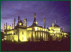 the royal pavilion by night