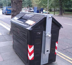 Lewes road triangle communal refuse brighton hove city council - Rd rubbish bin ...