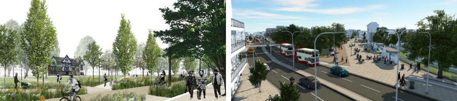 CGI images of Valley Gardens